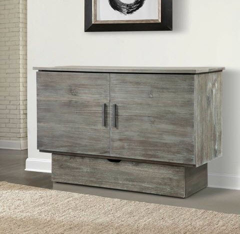 Shabby Chic Gray Studio Cabinet Bed